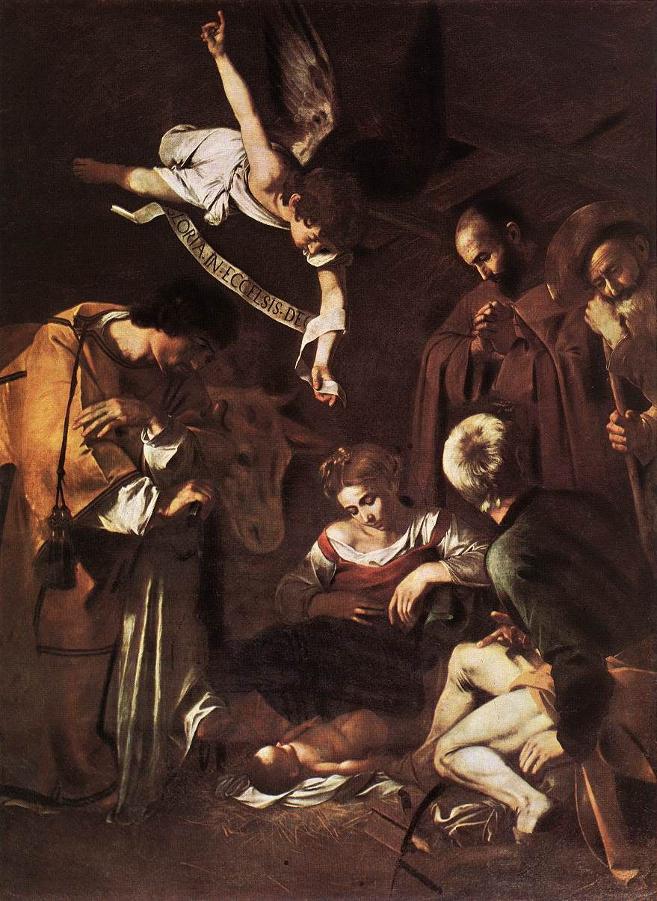 Natività con i santi Francesco e Lorenzo - Caravaggio